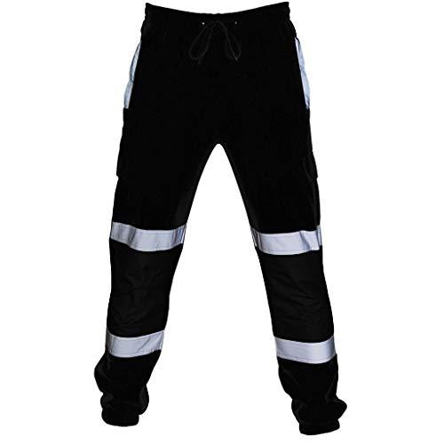 LUCKYCAT Herren Cargo Hose Jogging Pants Jogginghose Herren Jogger Sommer Männer Trainingsanzug Modern Baumwolle Jungen Slim Fit Freizeithose Sporthose Training Trainingshose mit Reflexstreifen