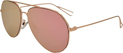 SQUAD Gafas de sol hombres y mujeres adulto Piloto Clásico Gafas ligeras Cómoda Productos de alta gama Metálico planas Fotograma completo Marca Fuertes