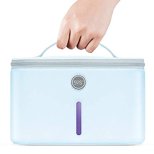UV Light Sanitizer Bag UVC Cleaner Disinfection Lamp Compact for Mobile Phone Clothes Glasses Kills 999% of Germs Viruses amp Bacteria 59S P55