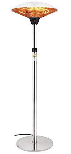 LDM Calentador de Patio Calentador eléctrico para Exteriores Calentador Radiante por Infrarrojos Independiente Ajustable en Altura 3 Niveles de Calor 1200 W / 1800 W / 3000 W protección IP