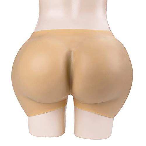 JiesenJX Culo Grande de Silicona Cuerpo de Cadera Pantalones de Glúteos con Forma Sexy Cortos de Silicona Cuerpo Realzado de Nalgas Falsas Realista Look and Feel Bum Enhancer Pants,Skintone,L≈5.5kg