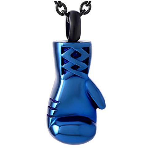 Wxcvz Collar De Urna De Cremación Forma De Guante De Boxeo Joyería Conmemorativa Soporte para Cenizas De Acero Inoxidable Collar De Urna De Cremación De Recuerdo Urnas De Cenizas