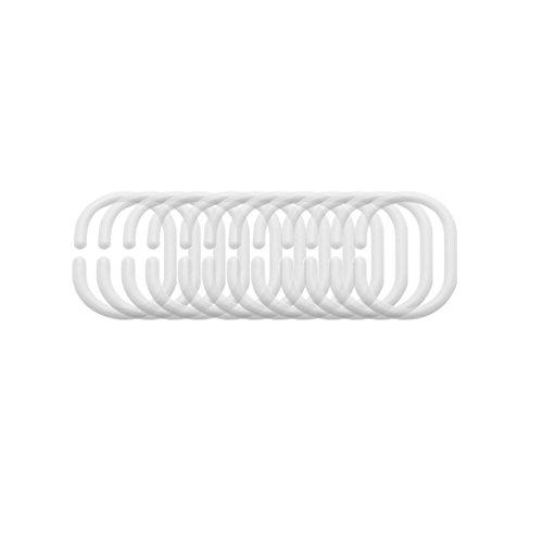 FRANDIS Ringe für Duschvorhang, 6 x 2,5 x 19,5 cm, 12 Stück farblos