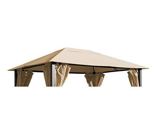 GRASEKAMP Qualität seit 1972 Ersatzdach zu Pavillon Paris 3x4m Sand Plane Bezug Gartenpavillon