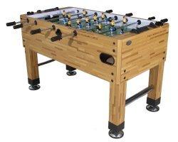 Berner Billiards Premium Foosball Table in Butcher Block with Both 1 & 3 Man Goalie
