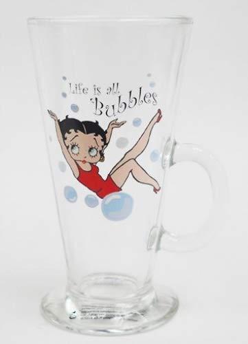 Betty Boop la vie est les bulles en verre Latte