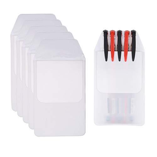 Hantier 50 Pcs White Pocket Protector für das Schulkrankenhausbüro; Hemden, Laborkittel, Hosen-Taschen-Schutz-Versorgungsmaterialien für Stiftlecks