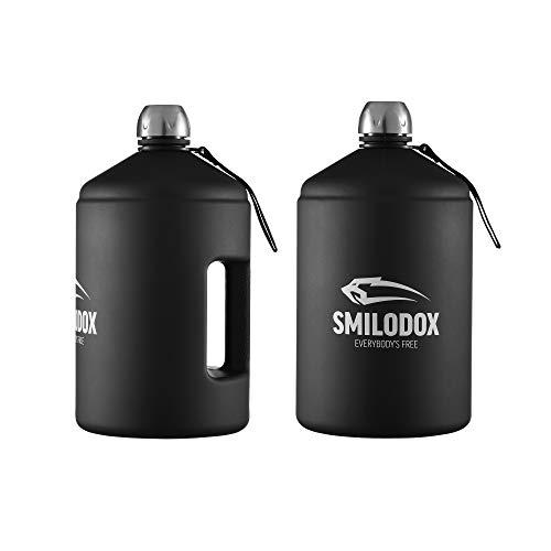 SMILODOX Trinkflasche Unisex Sport Fitness Gym Training Wasserflasche Bottle- 3,78l, Farbe:Transparent