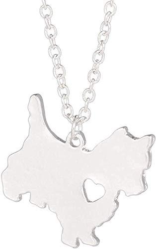 CAISHENY Collar de Plata de 1 Pieza, joyería, Collar de Perro, Colgante de Perro, joyería para Mascotas, Amante de los Perros
