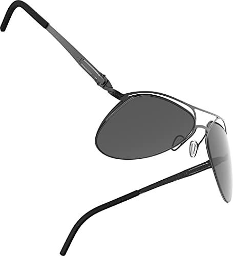 Lunithe Unisex Avior Sh: Made In France, limitierte Auflage, Premium, Unabhängige Kreationen, Innovation, Biologisch inspiriert, Flugzeugform, Groß, Box 56 20 Schwarz Noir Mat