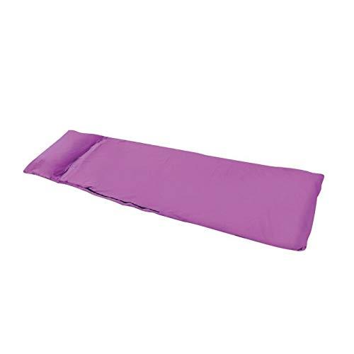 YanGYe Schlafsack, 1PC Ultra im Freien Schlafsack Polyester-Rohseide tragbares Einzel Schlafsäcke Camping Reise Schlaf Tasche (Color : Purple)