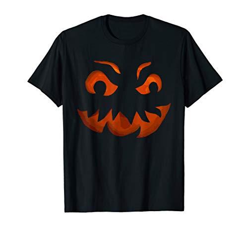 Gespenstischer Kunst Entwurf Zahn Kürbis Halloween T-Shirt