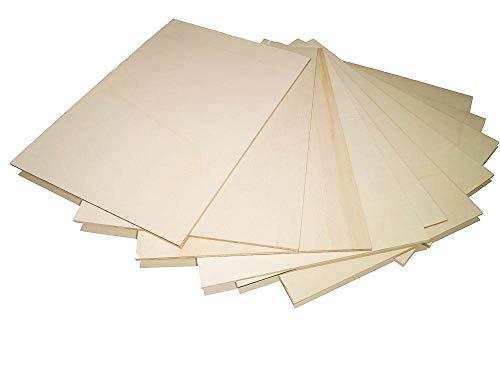 10 x 4 mm hojas 30 x 42 tablas de madera en línea en bruto de contrachapado multicapa laminar álamo, listones de cuentas de mar Okume