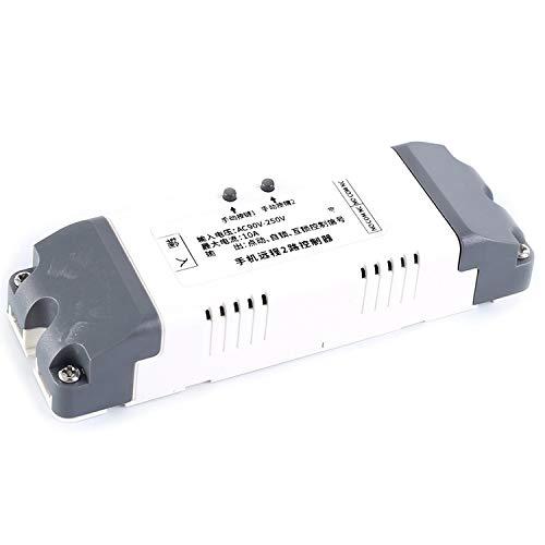 HEQIE-YONGP Módulo de relevo- WI-FI Interruptor de Control Inteligente del Interruptor 2.4G IO 10A Módulo de relé de CA 85V-250V App Móvil de Control RRemote 2 Canales