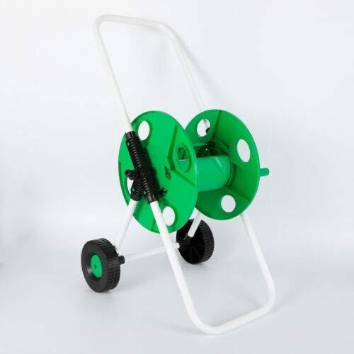 Futchoy Carro de carrete de manguera de riego de la carretilla de la manguera del marco del tubo de agua con la devanadera