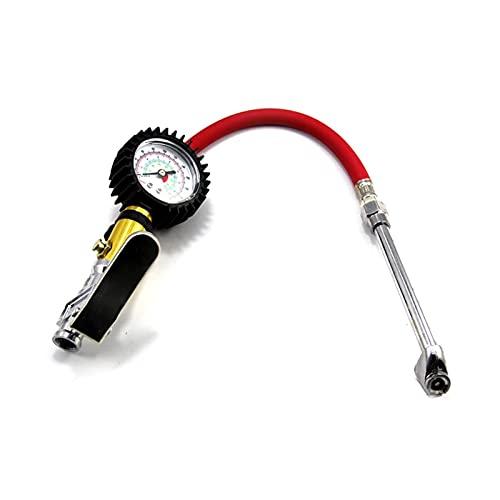 HWNGDI Manómetro de presión de neumáticos, arma de presión de neumáticos de alta precisión de alta precisión de alta precisión de alta precisión con manguera de aire a prueba de fugas para camión de a