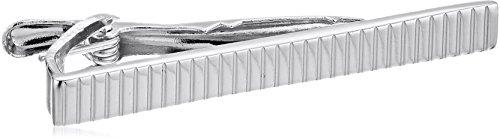 Stacy Adams Men's Silver Line Design Tie Bar, One size