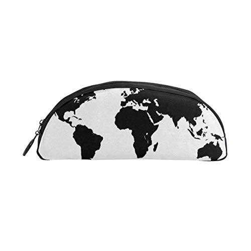 Winter Saisonale Muster Weltkarte Bleistift Fall Stift Beutel Reißverschluss Kleine Schminktasche Student Briefpapier Büromaterial für Teen Boy Girls