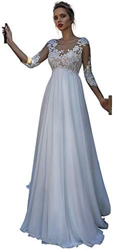 Dreammaking Spitze Schwangerschaftskleid Umstandskleid Schwanger Frauen Lange Mutterschaft Fotoshooting Kleidung für Damen Hochzeitkleider Brautkleider Prinzessin