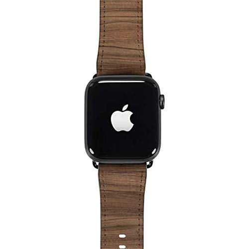 Skinit Natural Walnut Wood Watch Band 38mm-40mm - Faux-Leather Apple Watch Band - Compatible with Apple Watch 38mm Series 1, Series 2, Series 3, 40mm Series 4