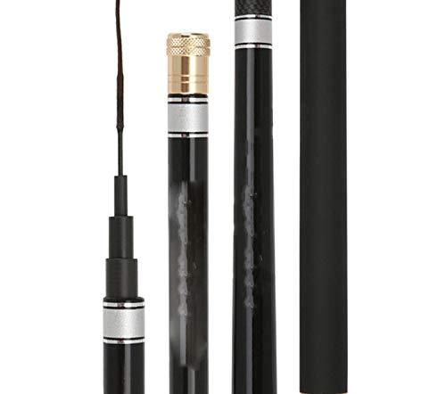 MGoods-Store-uk - Bastone telescopico in fibra di carbonio per pesca alla carpa, 3,6 m, 4,5 m, 5,4 m, 6,3 m, Nero , 4.5m 19 Hardness
