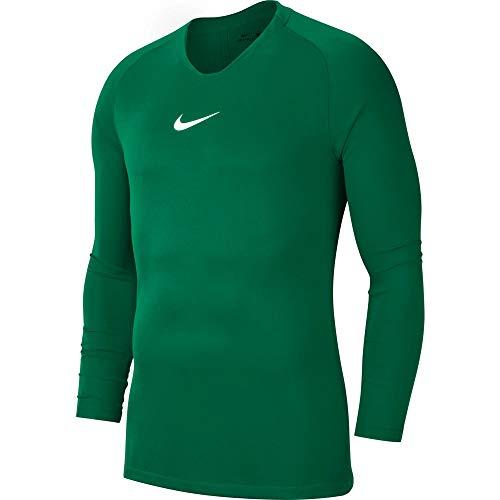 Nike Jungen Kurze Hose Pro Combat Hyperstrong Slider Shorts Long Sleeved T-Shirt, Pine Green/(White), S