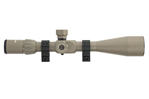 Monstrum Tactical 6-24x50 Rifle Scope with First Focal Plane (FFP) Rangefinder Reticle and Adjustable Objective Lens (Flat Dark Earth)
