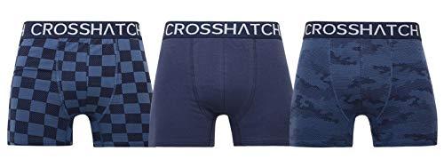 CrossHatch Herren Boxershorts Black Label Bresler, 3er-Pack, Navy, XL