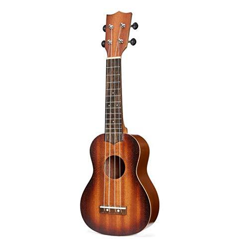 RJDJG 21 Pulgadas Ukulele Soprano Principiante Ukulele Guitarra Ukulele Cuello Delicado Tuning Peg 4 Cuerdas Madera Ukulele Q12.7 (Color : Khaki)