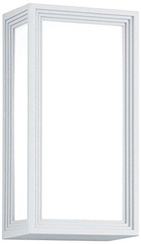 TRIO, Applique, Timok incl. 1 x LED,E27,6,0 Watt,3000K,470 Lm. Plastique, Blanc, Corps: Fonte daluminium, Blanc L:15,0cm, L:10,0cm, H:28,5cm IP54,Montage au mur