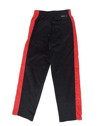 Jordan Little Boys' Nike Jumpman Fleece Lined Sweatpants (Black/Gym Red, 7)