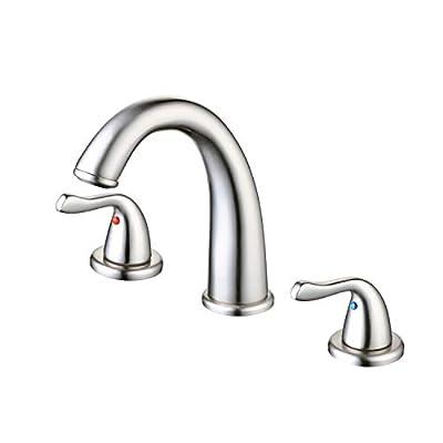 Widespread Bathroom Faucet 2-Handle 3-Hole Bathroom Sink Faucet Brushed Nickel Finish