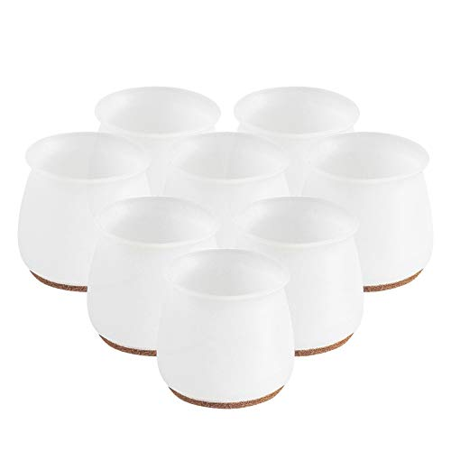 Silicone Furniture Chair Legs Floor Protectors, Table Leg Cups Rubber Feet Pads Anti-Slip, Wood Floor Protectors for Furniture Legs, Protection Covers Table Feet Pad Floor Protector (8 Pcs)