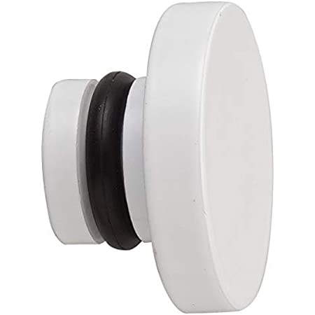 Blanco Gardinia 11280 Clavijas//terminaci/ón Cilindro para cortineros Serie Chicago di/ámetro 20 mm