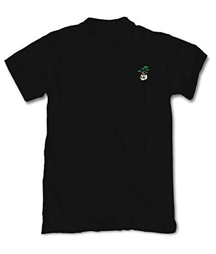 Riot Society Bonsai Skull Embroidered Mens T-Shirt - Black, Large