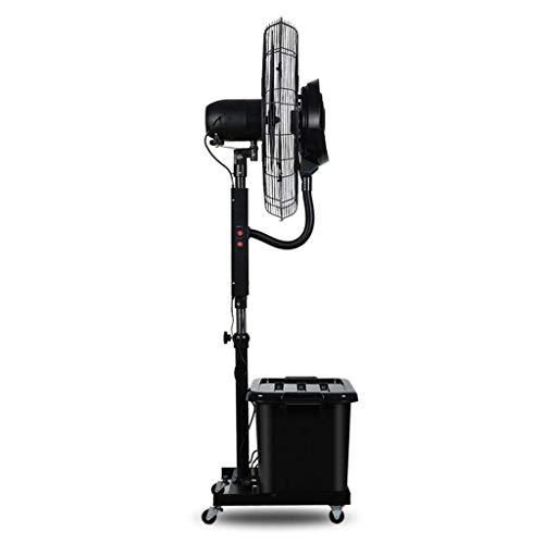 WSJ - Ventilador de pie para el suelo, elevar oscilación, pulverización de alto rendimiento, multifunción de 3 marchas, 10 horas, 42 litros, color negro, ahorro de energía (tamaño: 710 mm), 710mm