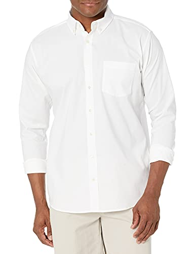 IZOD Uniform Young Mens Long Sleeve Button-down Oxford Shirt, White, 34/25