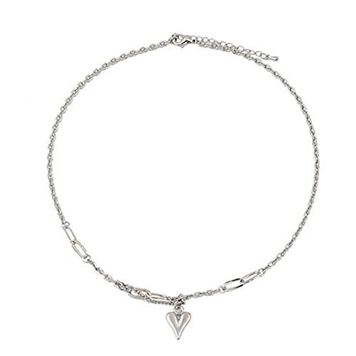 Collar con Colgante de corazón de melocotón electrochapado para Mujer, Collar de Gargantilla para Mujer, joyería de Regalo de Boda de cumpleaños romántico