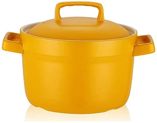 LBWARMB Cazuelas de Cocina Casserole Resistente al Calor Adecuado para la Cocina de inducción, Cacerola de cerámica Antiadherente, Olla de Sopa de Olla Doble Olla de Sopa Caliente