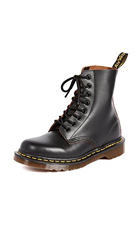 Dr. Martens 1460 Vegan BLACK, Unisex-Erwachsene Combat Boots, Schwarz (Black), 39 EU (6 Erwachsene UK)
