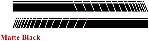 Jucaiyuan Racing Sport Strisce Strisce Decalcomania Auto Side Syne Syne Sticker per BMW Mini Cooper S Clubman F55 F56 F54 F60 R56 R57 R55 3-5 Porte (Size : Matte Black)
