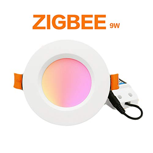 ZIGBEE Smart Home Downlight LED 9 W funciona con Amazon Plus SmartThings rgb cct light AC100-240V doble color blanco