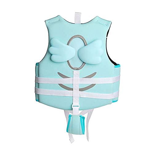 LIMESI Chaleco de Natación para Niñas Niños con Correa de Seguridad Chaleco de Flotación Ropa de Baño Flotante Aprendizaje de Natación-M
