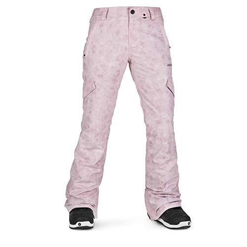 Volcom Women's Bridger Insulated Snowpant, Pink, Medium