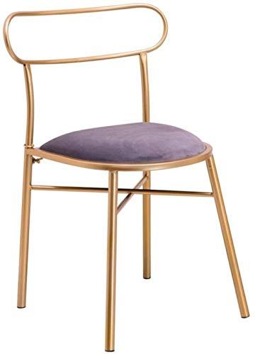 GAOLILI Bürostuhl mit Armlehne Dining Chair Samtakzent Stühle Polsterstühle Metall Wohnzimmer Esszimmer Küche Terrasse Küchenstühle