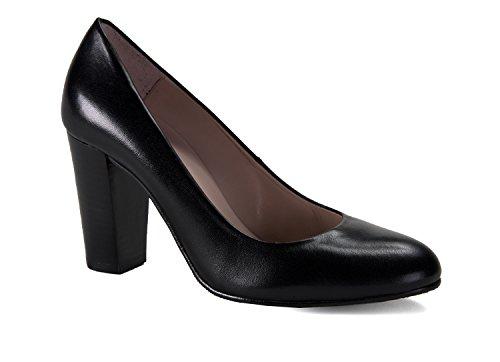 zeddea Garda Negro - Zapatos de azafata cómodos para Mujer- Talla 42