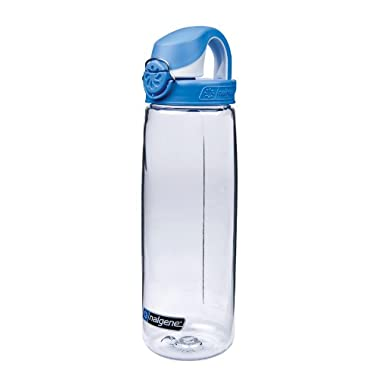 Nalgene Tritan On The Fly Water Bottle, Clear with Blue/White, 24Oz