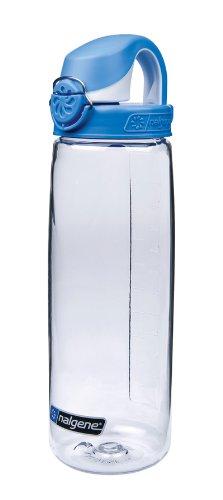 Nalgene Trink und Kunststoff flasche Everyday OTF, Transparent/blue, 0.65 Liter, 5565-2024