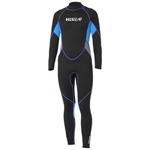 QIMANZI Taucheranzug Herren 3MM Sunblock Neoprenanzug zum Tauchen Surfen Schwimmen Ganzkörper(A Schwarz,M)