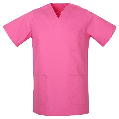 MISEMIYA - Casaca SEÑORA Mangas Cortas Uniforme Laboral CLINICA Hospital Limpieza Ref:8171